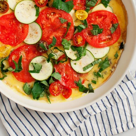 Tomato Zucchini Frittata