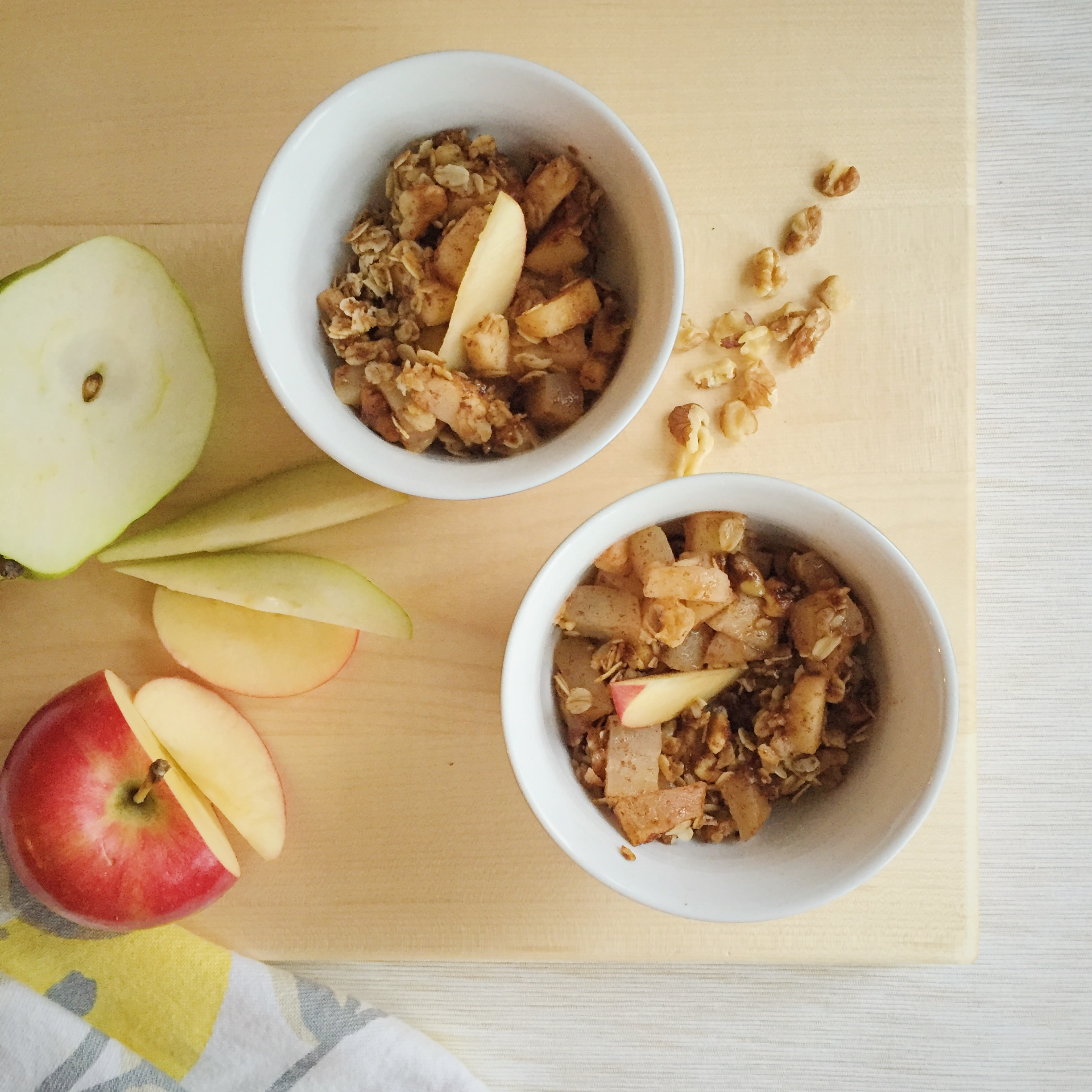 Click here  for this well&tight warm apple and pear crumble recipe.