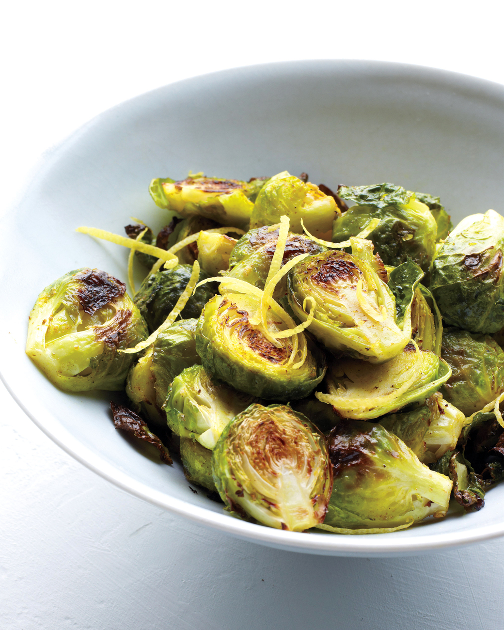 Click here  for this spiced lemony brussels sprouts recipe.