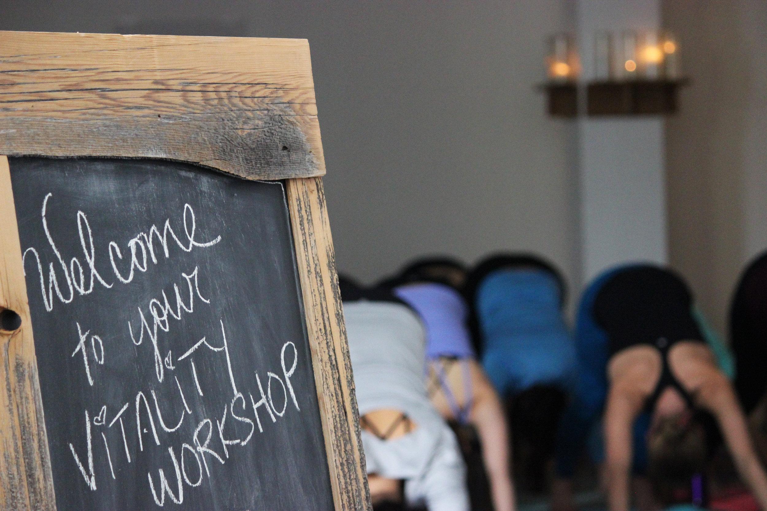 Vitality Workshop yoga