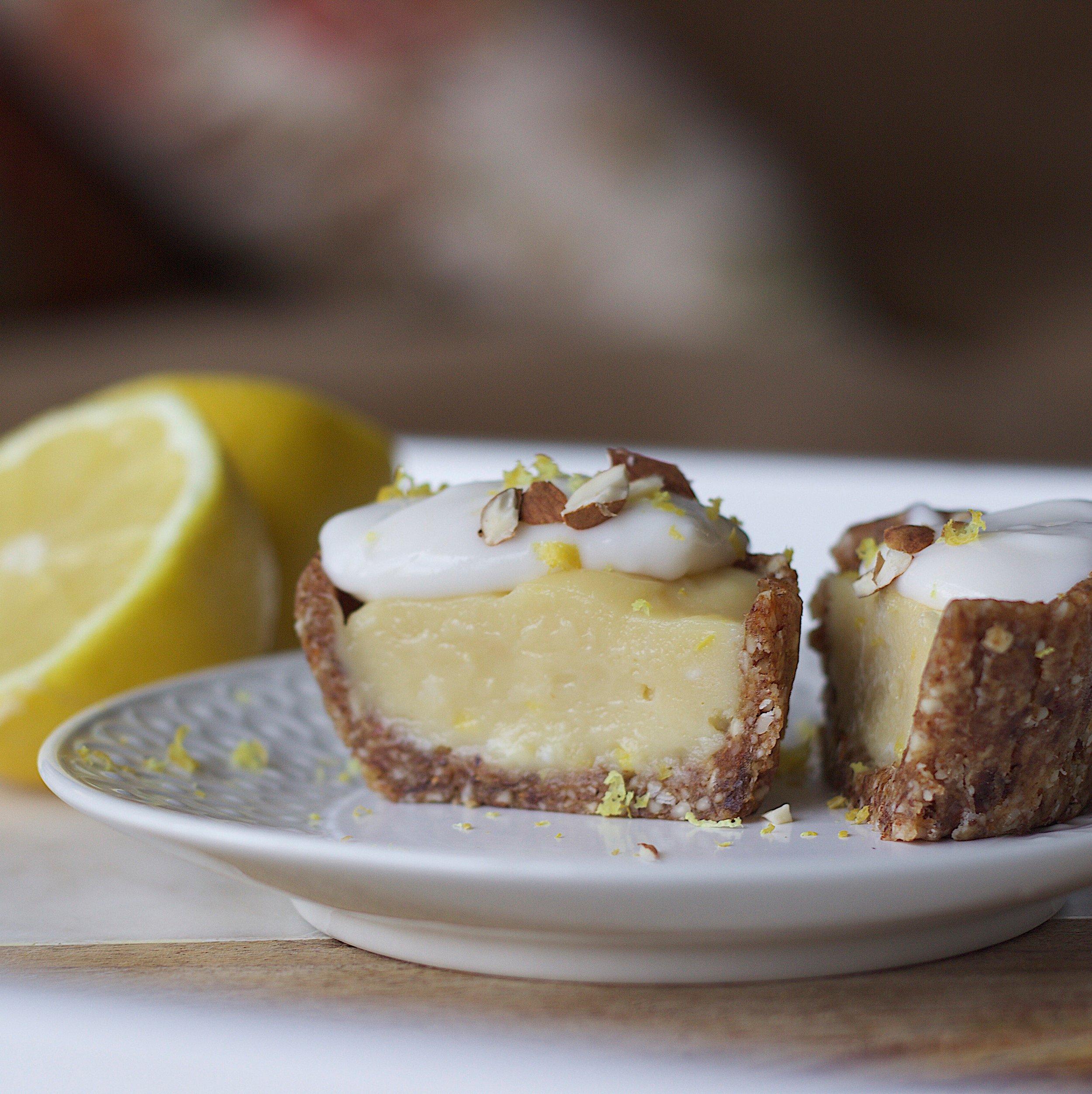 Creamy Lemon Almond Tart