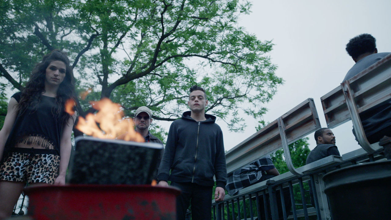 indie-music-and-television-blog-mr-robot-red-wheelbarrow-on-fire