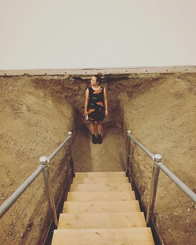 Dirty looks 👀👁 @moca . .  #grounded #inthedeep #dirtyart #moca #geffencontemporary #artday #artdate