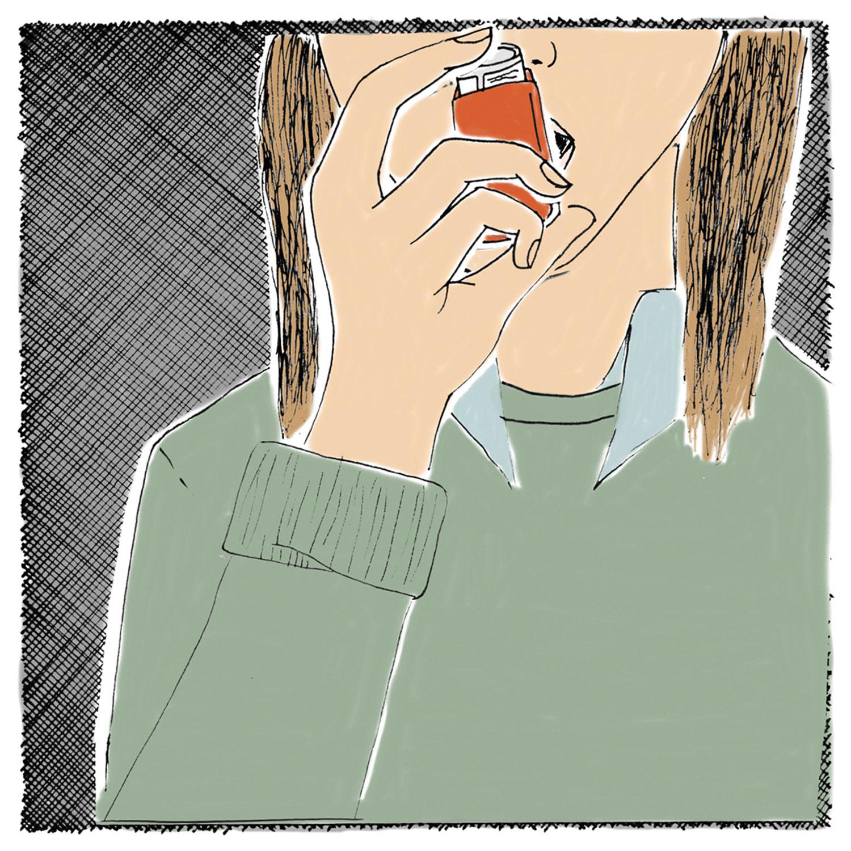 Dear blue eyed barista boy,  If I had an inhaler, I'd use it.