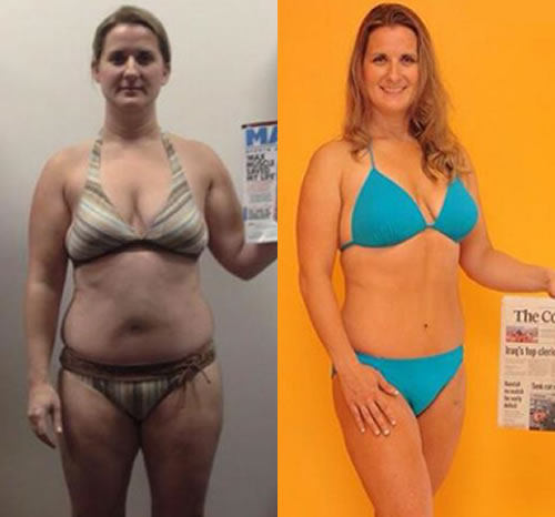 """Alysha Ford - """"The results are just as I hoped. My Hormones are under control through diet and exercise resulting in PCOS symptoms subsiding. My cholesterol levels are all in the normal range Ive dropped a fabulous 23 lbs. Gain a ton of muscle. Ive completed a 15K of hills, cycled 105 miles, completed a sprint Triathlon, and most importantly learned how to eat from my MaxMuscle nutritionist Stacey. I could not have completed those events as easily without proper nutrition. I need to thank my support team at Bold Training they helped train me for success. A big shout out to my fellow Team mates Missy and Jen for being by my side through this incredible journey. My Wonderful Husband for keeping me grounded and supporting me through this."""""""