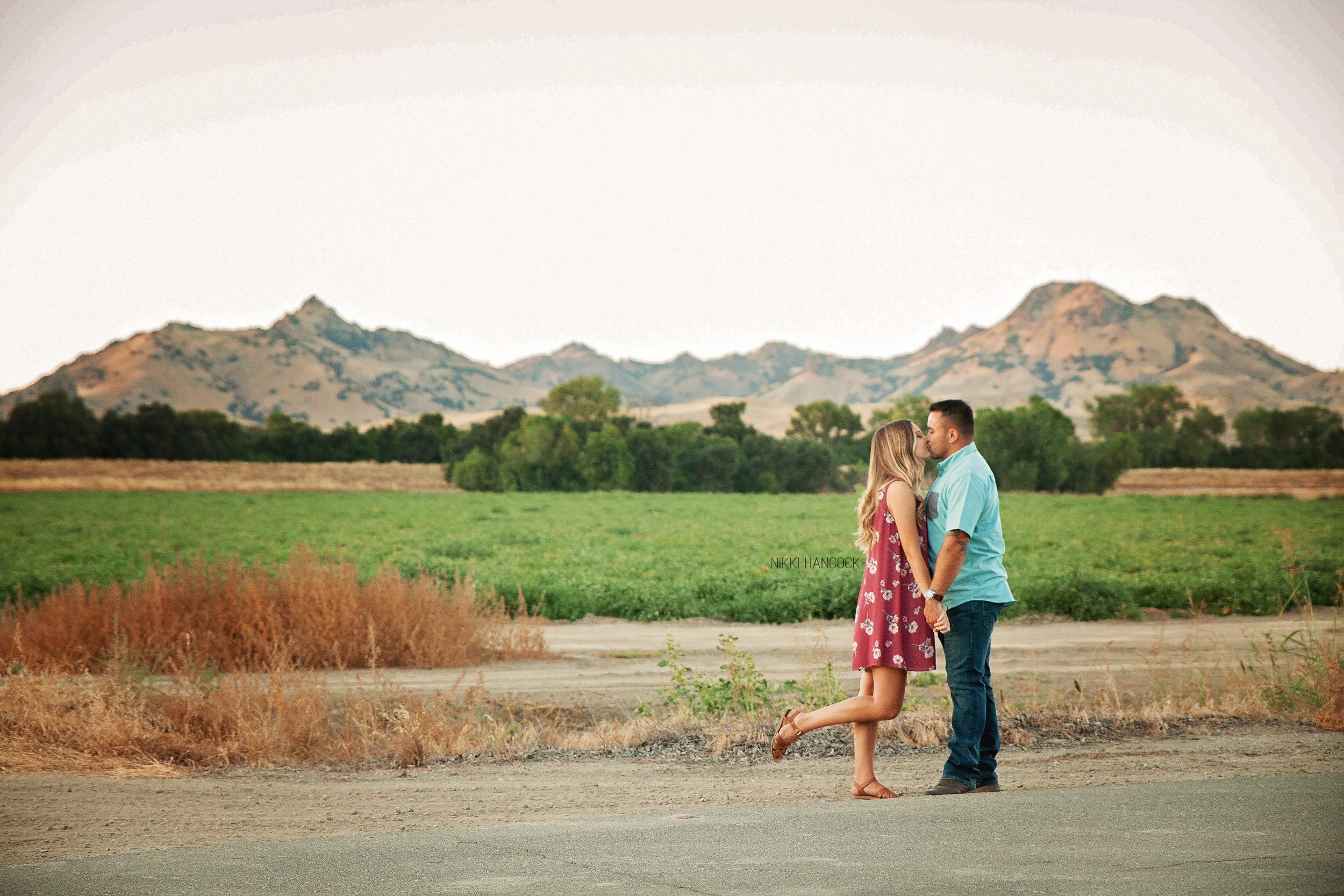 Sutter Buttes engagement shot