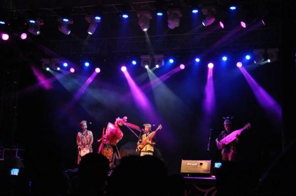 Performance during Rainforest Music Festival