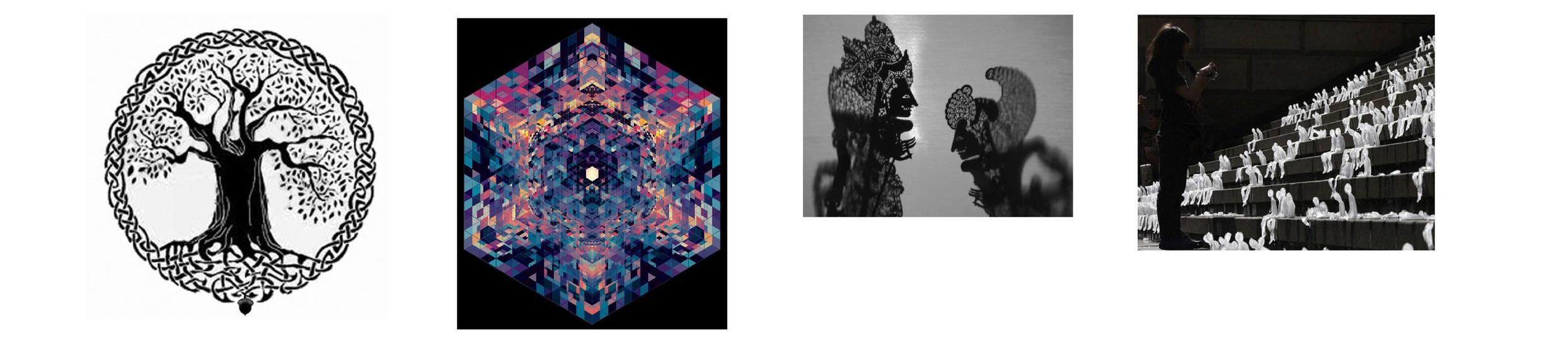Collaboration Themes: 1. Tree of Life (Liu Xin and Jiao Yue) 2. Kaleidoscopic cocoon (Jun Jie and Jing Shu)3. Kulit Wayang (Meng Shi and Jin Fan) 4. Ephemeral graffiti (Zhang Zhe, Zhang Yi and Ziru)