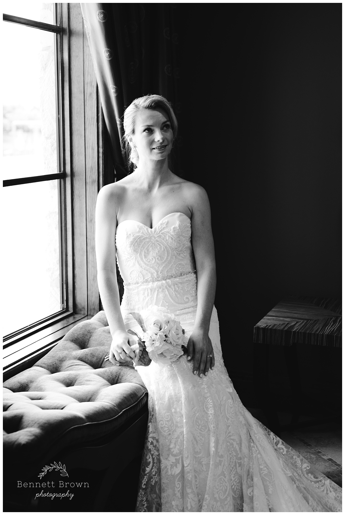 Bennett Brown Photography Bridal Portraits gown beading