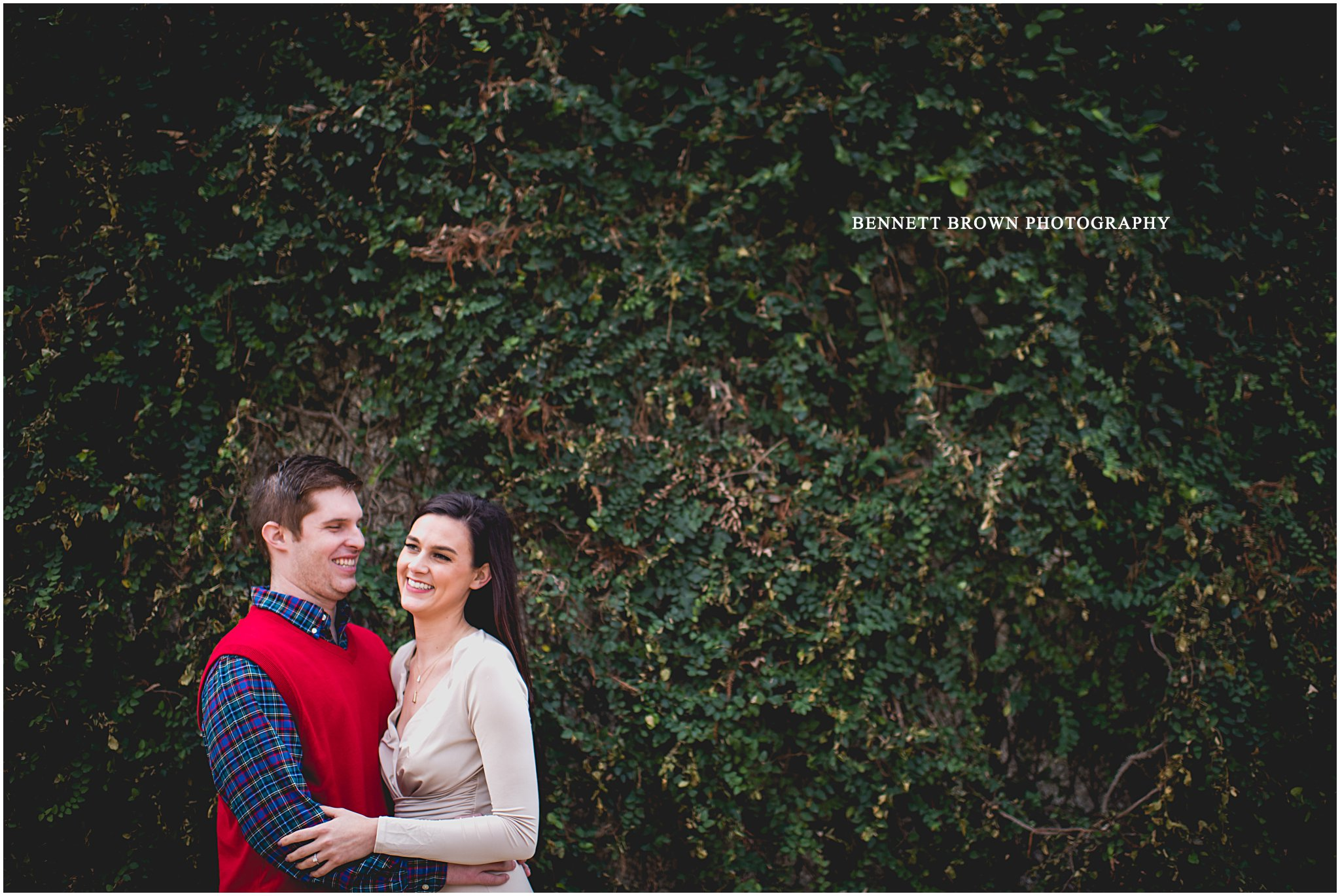 Ivy outdoor session Bennett Brown Photography engagement session wedding photography bride groom