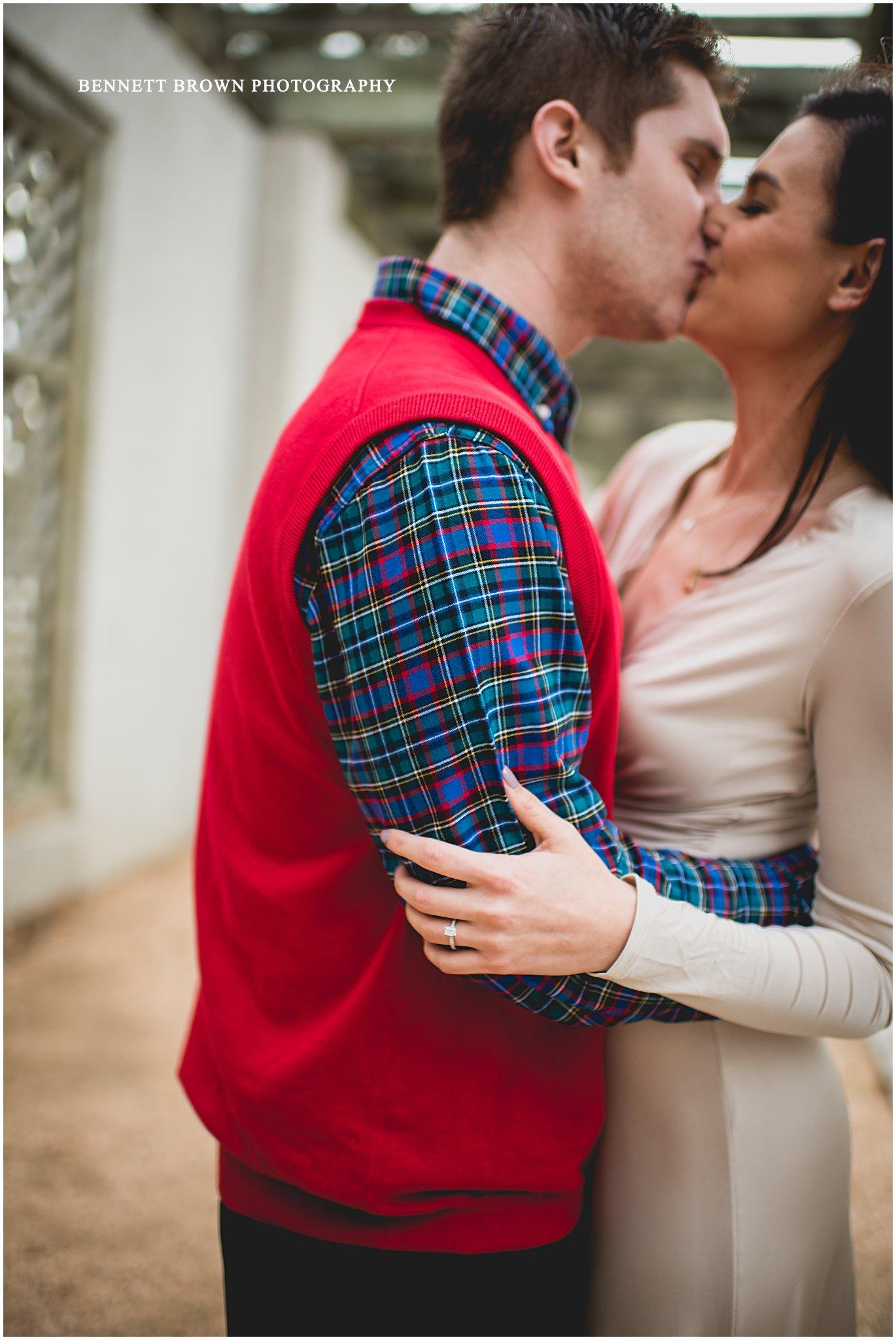 Bennett Brown Photography Detail shoot Wedding photographer Houston Texas Engagement  Kiss