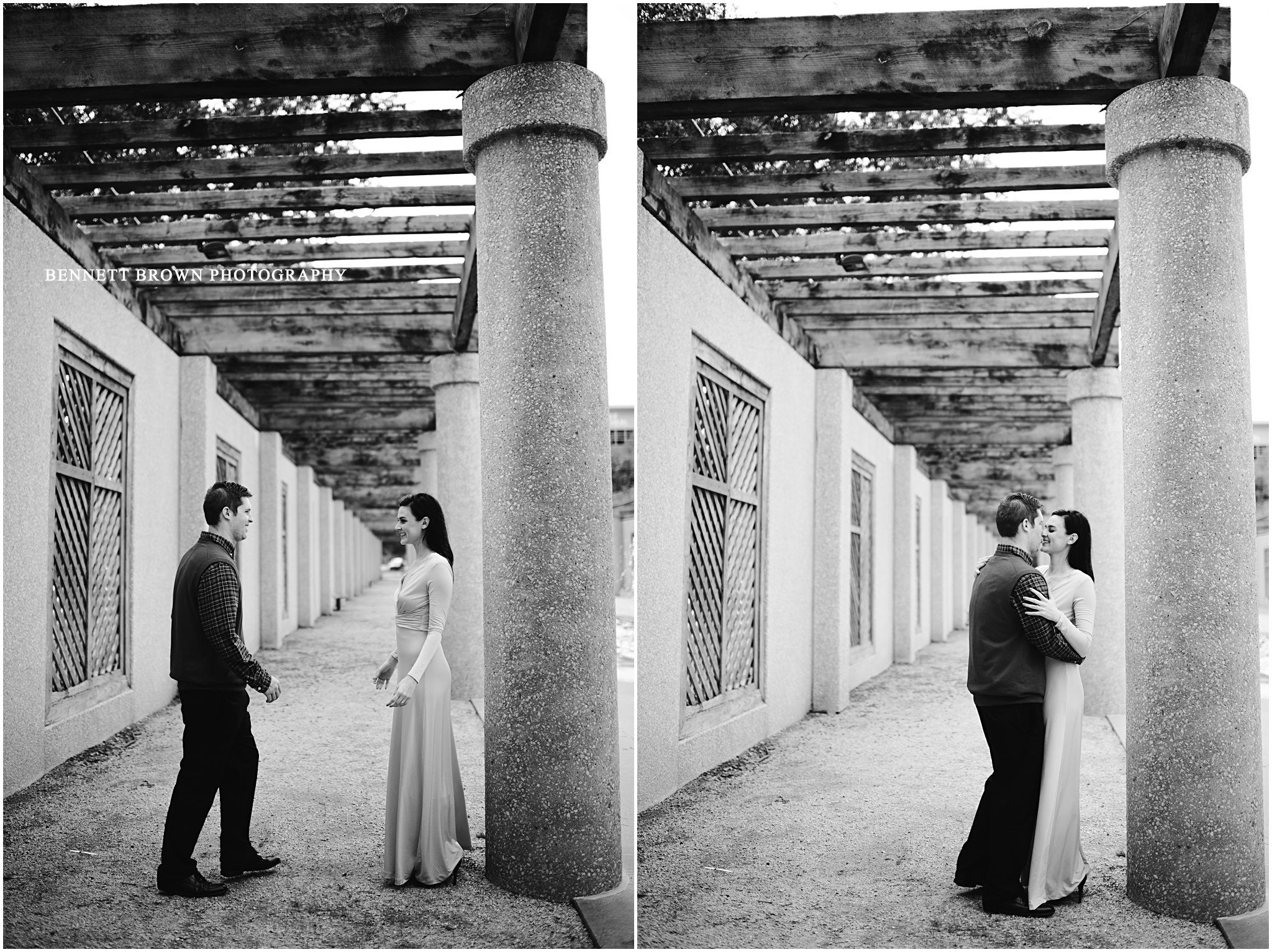 Black and White Photo Bennett Brown Photography Detail shoot Wedding photographer Houston Texas Engagement