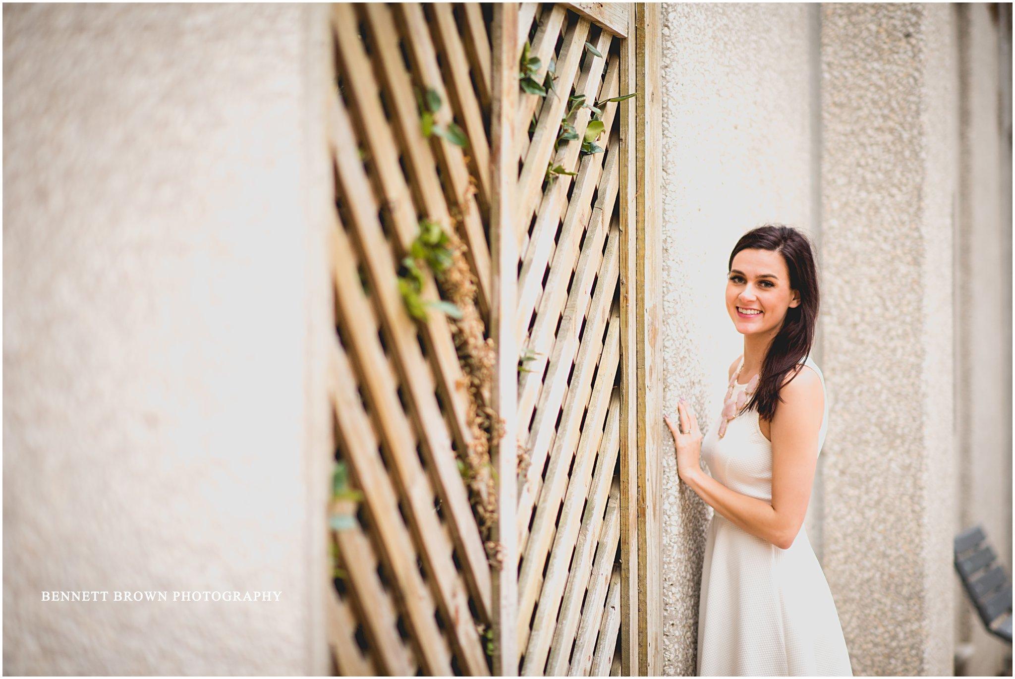Trellis Bride Engagement shoot bride Bennett Brown Photography