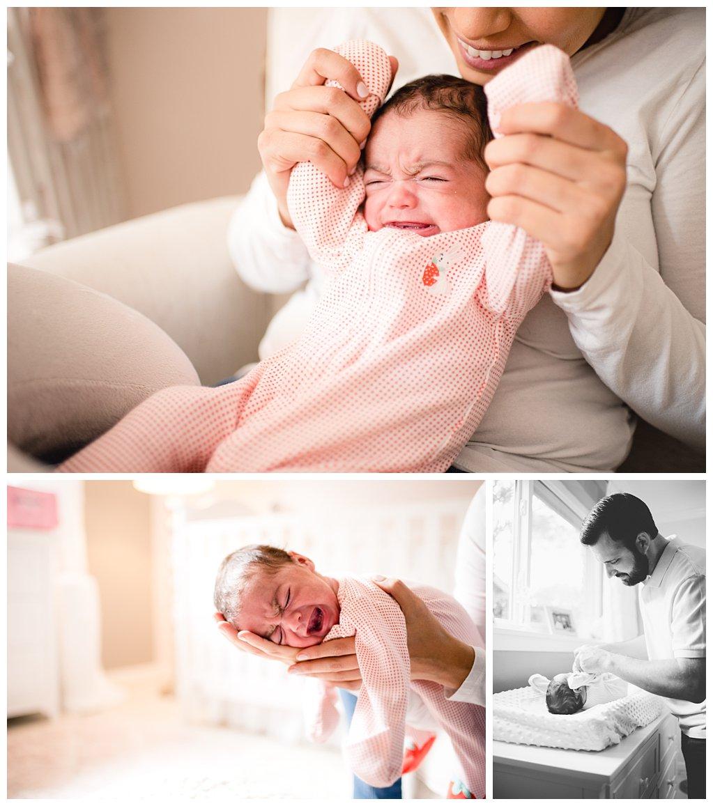 Bennett Brown Photography newborn photography family photo giraffe nursery Daughter
