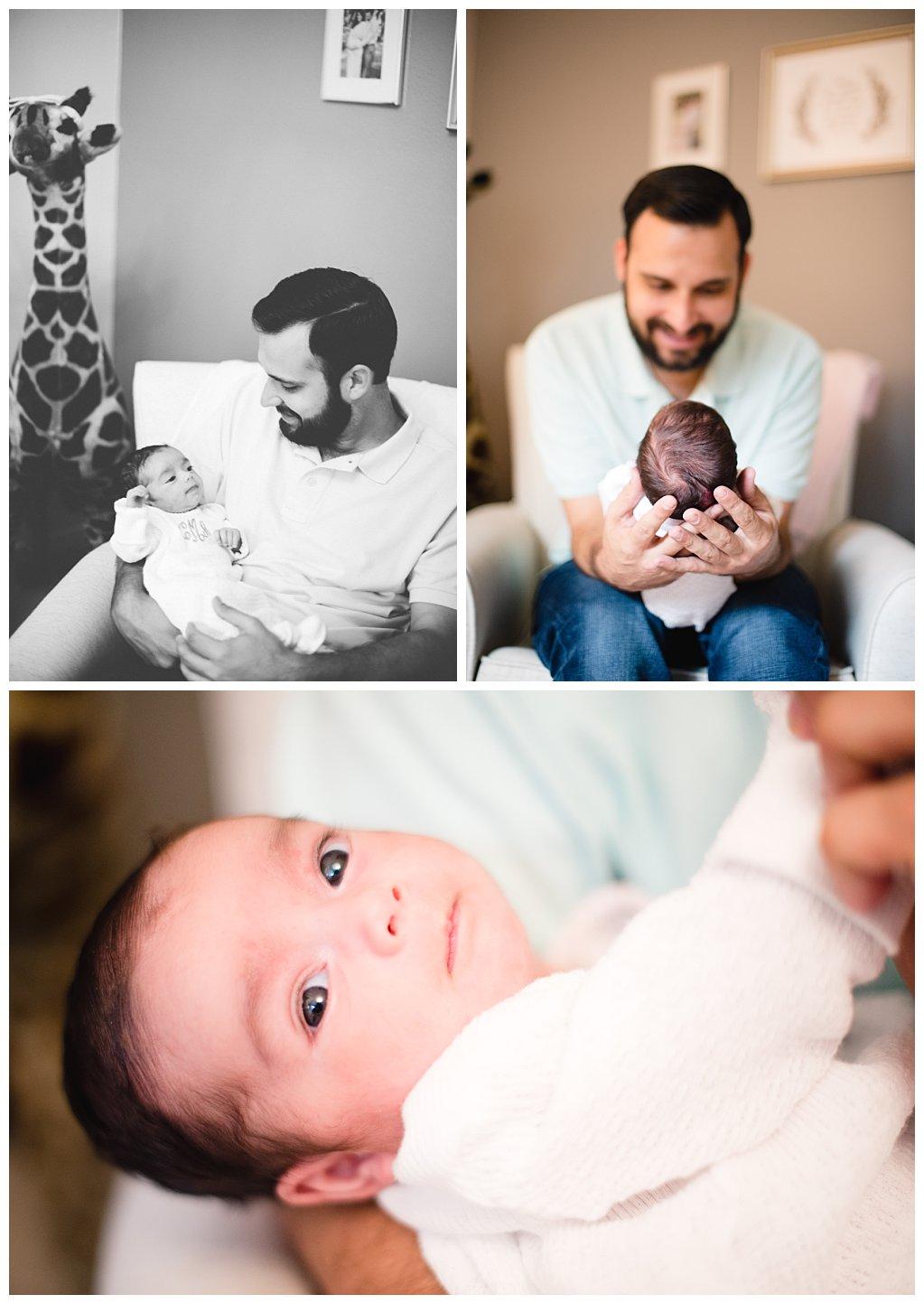 Bennett Brown Photography newborn photography family photo giraffe nursery