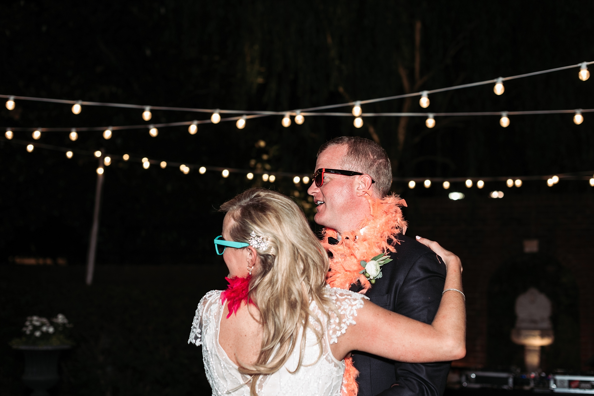 Bennett Brown photography wedding reception string lights Wedding guest dance party celebration