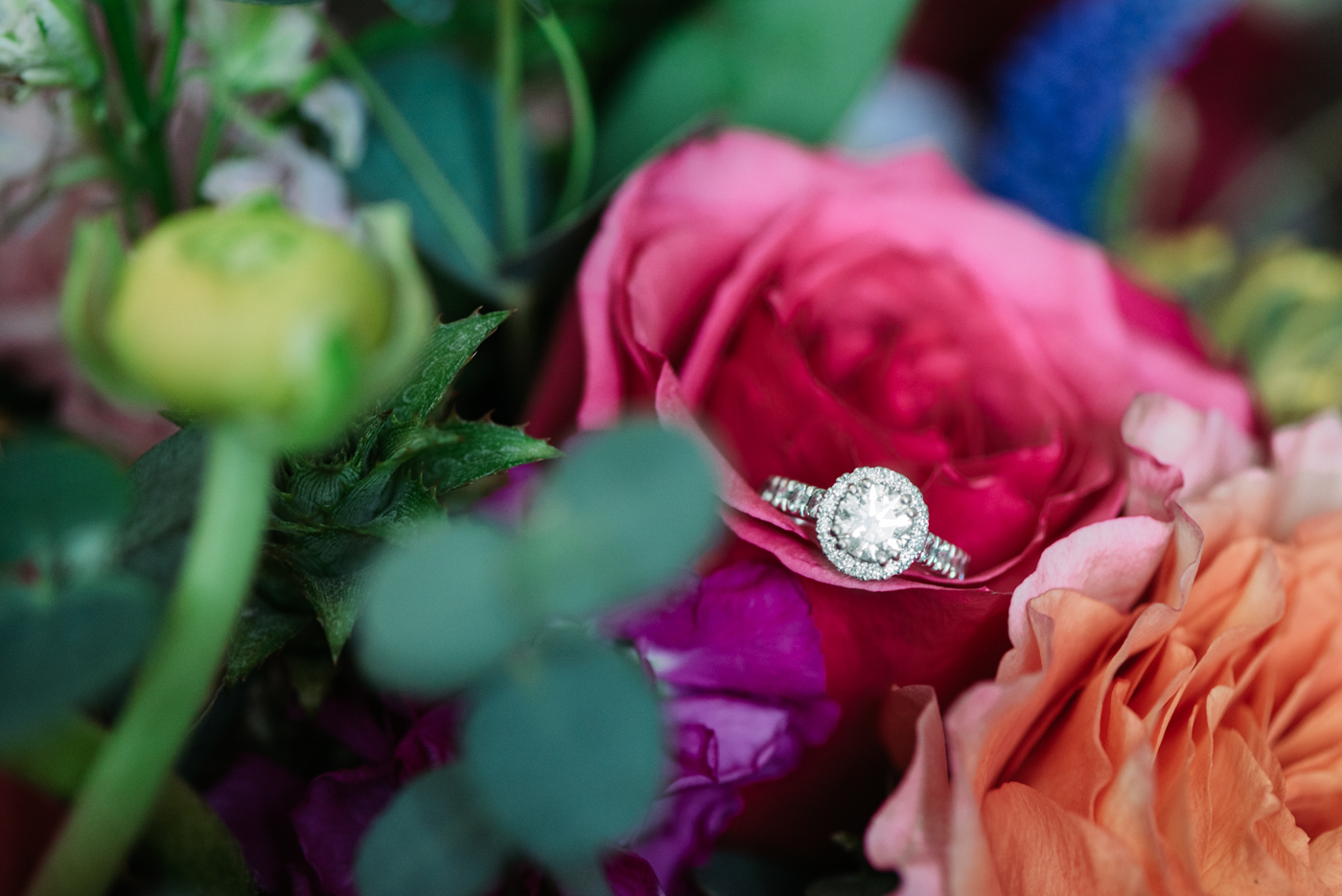 Diamond ring Wedding details floral design wedding inspiration photography bride bridal