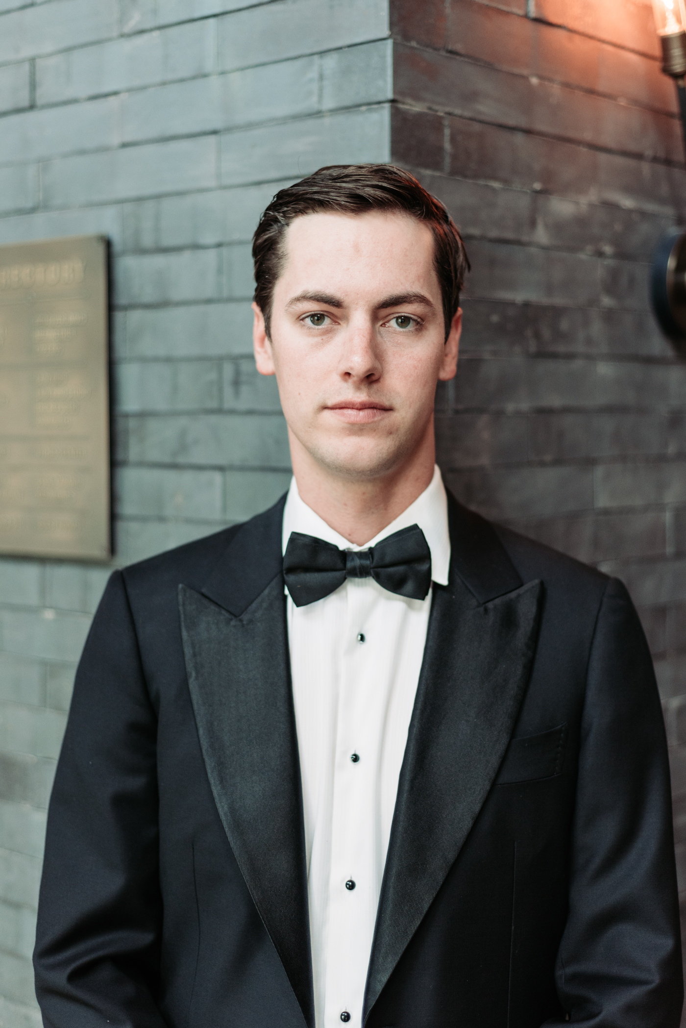 Bennett Brown photography wedding groom suit bow tie