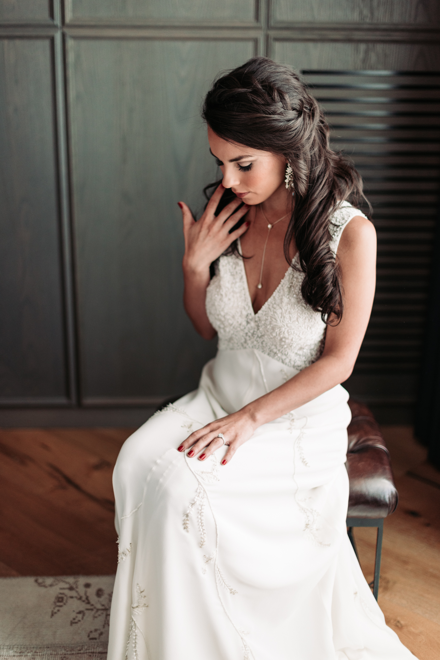 Bridal portrait Bennett Brown photography wedding bridal gown bride