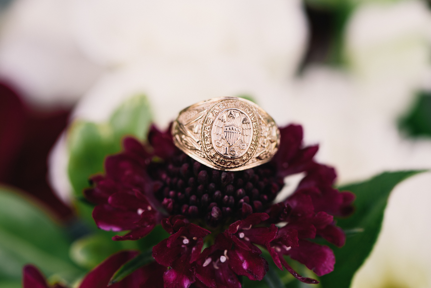Ring and Flowers Aggie Ring Texas A&M Ring bouquet