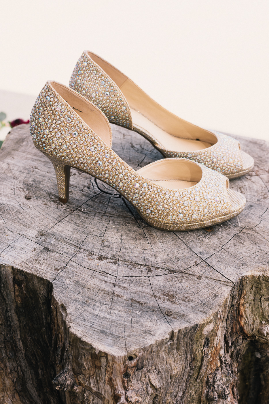 Wedding Shoes stump open toes off white tan studded wedding peep toe heels