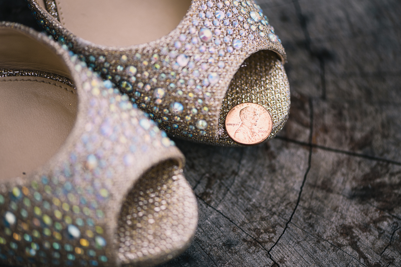 Wedding Shoes stump open toes off white tan studded wedding peep toe heels penny close up Abraham Lincoln