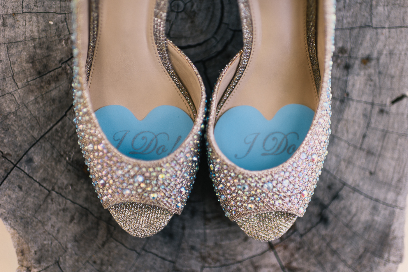 Wedding Shoes stump open toes off white tan studded wedding peep toe heels I do something blue old new borrowed