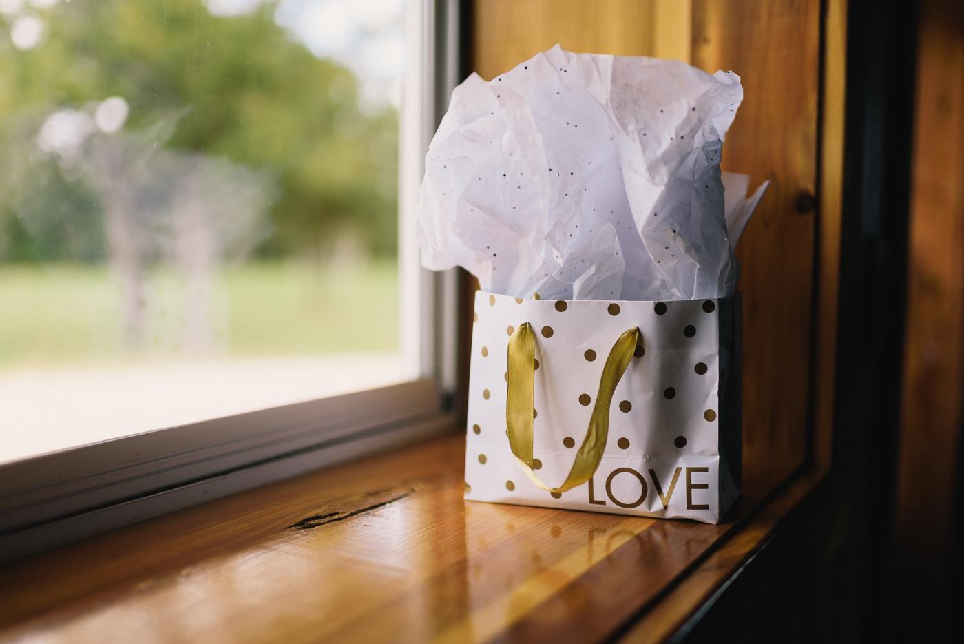 Wedding gift love watch gold window light