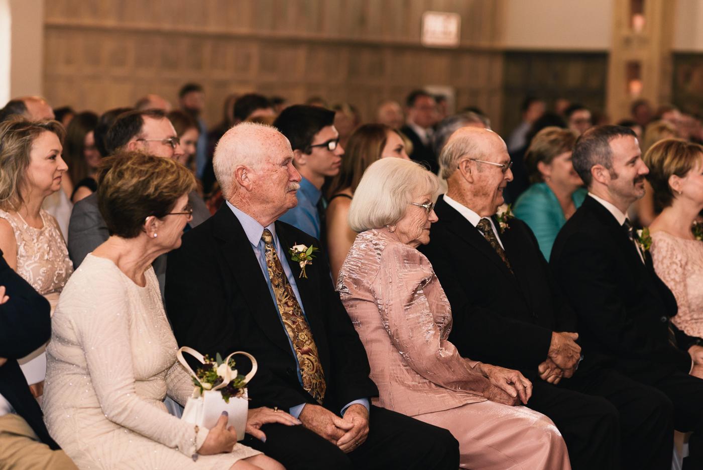 wedding ceremony family of the groom