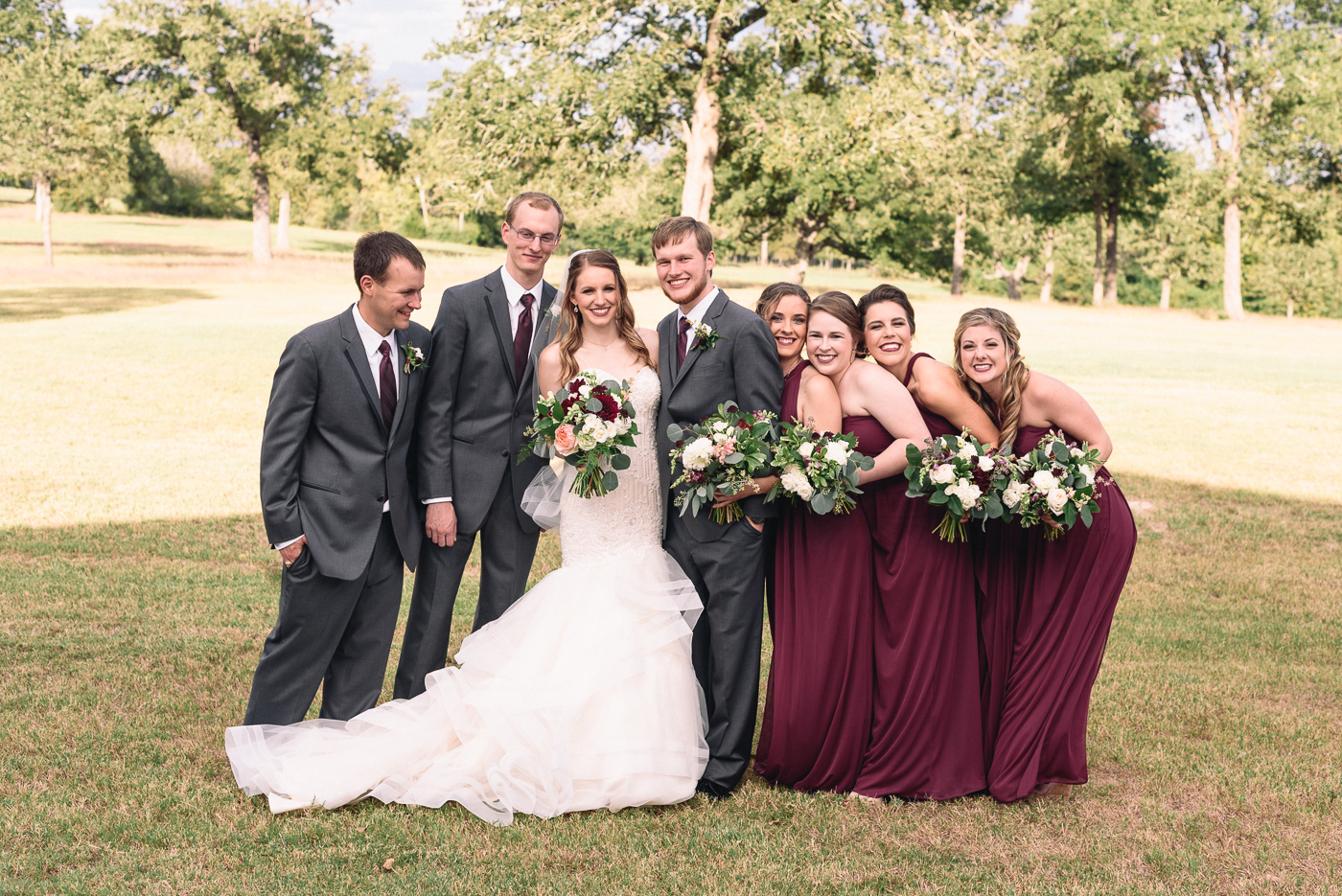 wedding party wedding portrait bridesmaids groomsmen broken arrow ranch college station