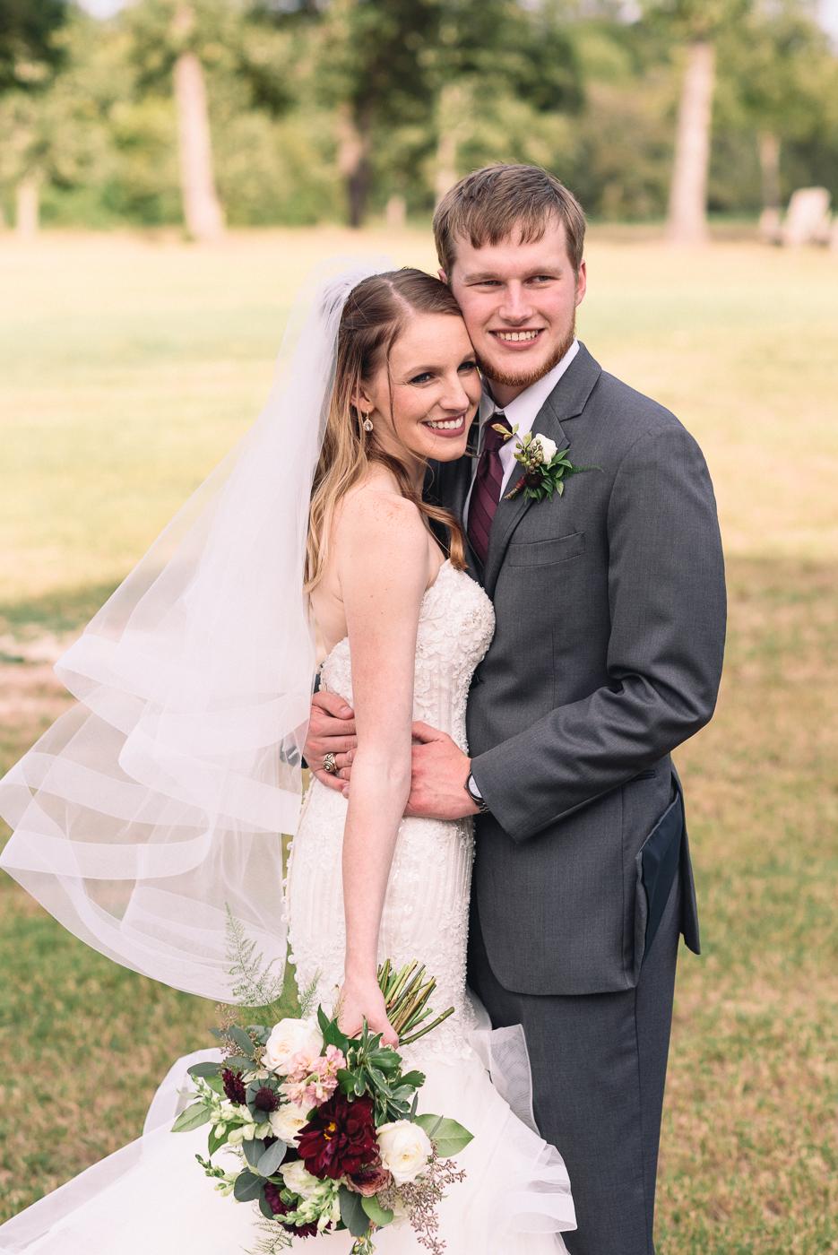 Husband and wife wedding portrait mermaid gown veil