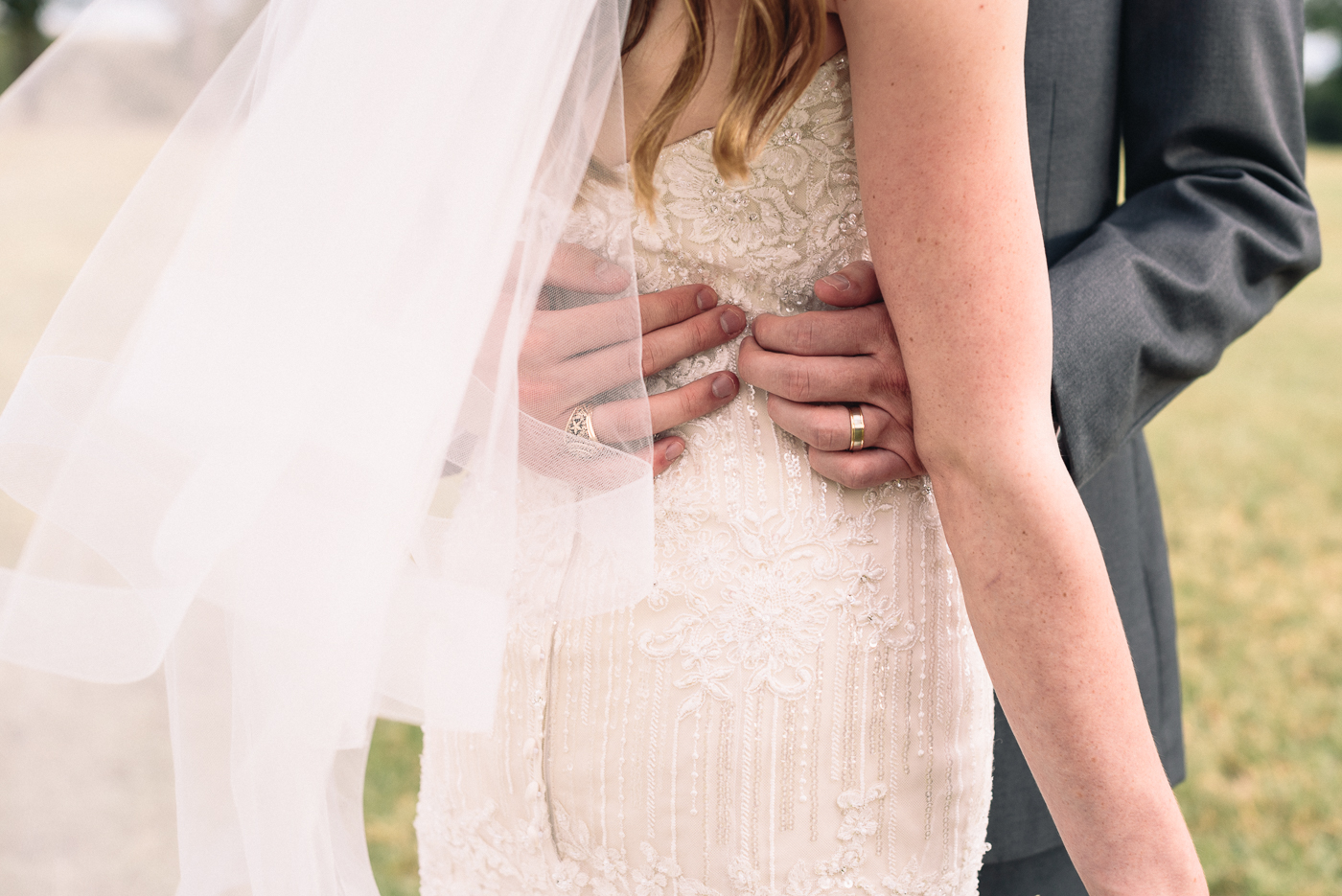 wedding portrait wedding ring Texas A&M ring wedding veil