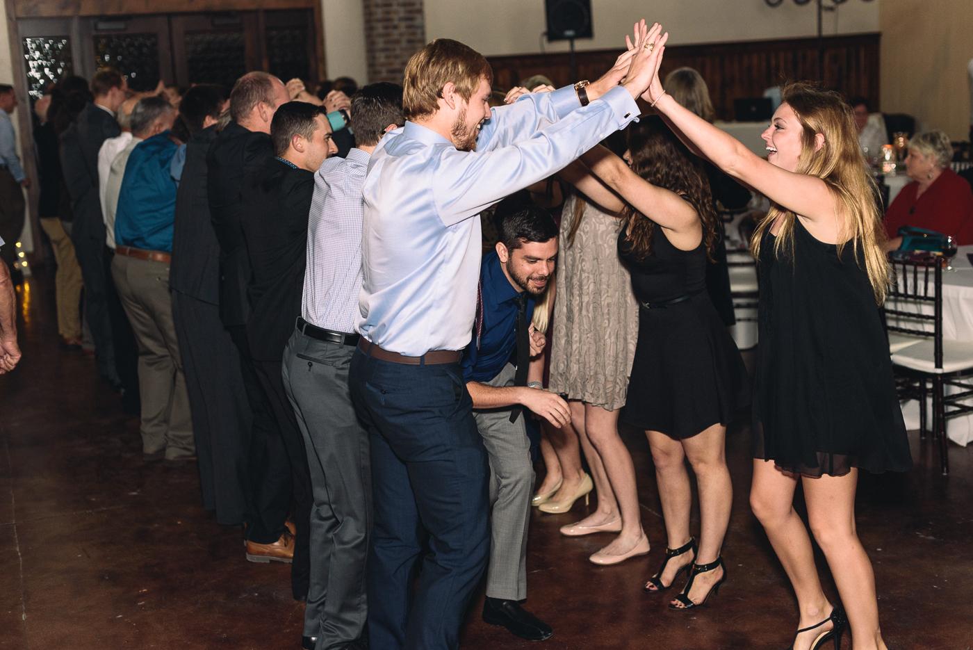 grand march czech wedding reception friends