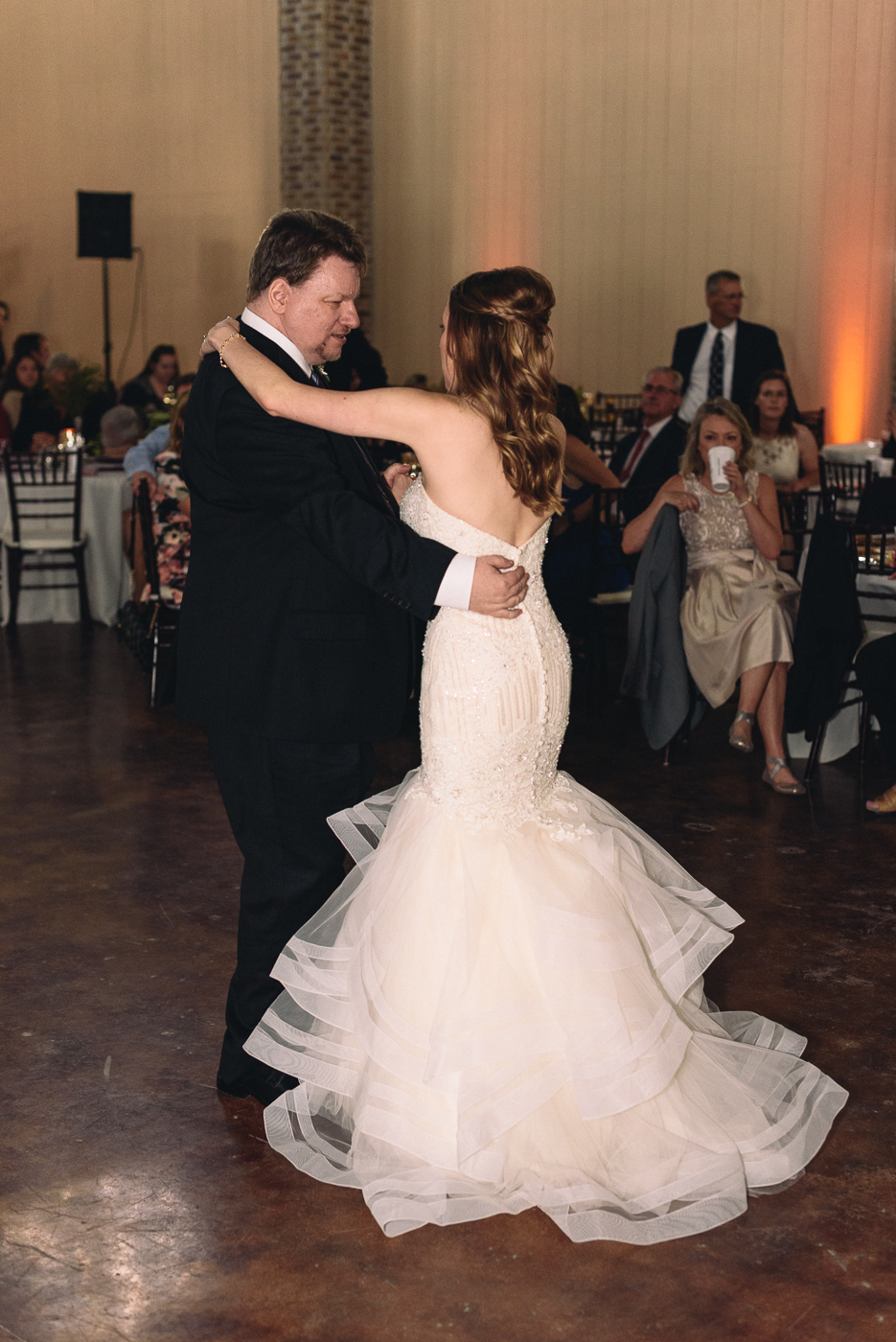 father daughter dance wedding reception mermaid gown