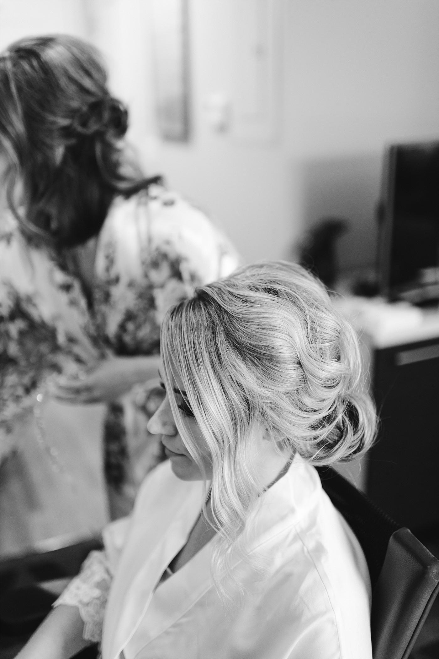 Up do bridal bride wedding details