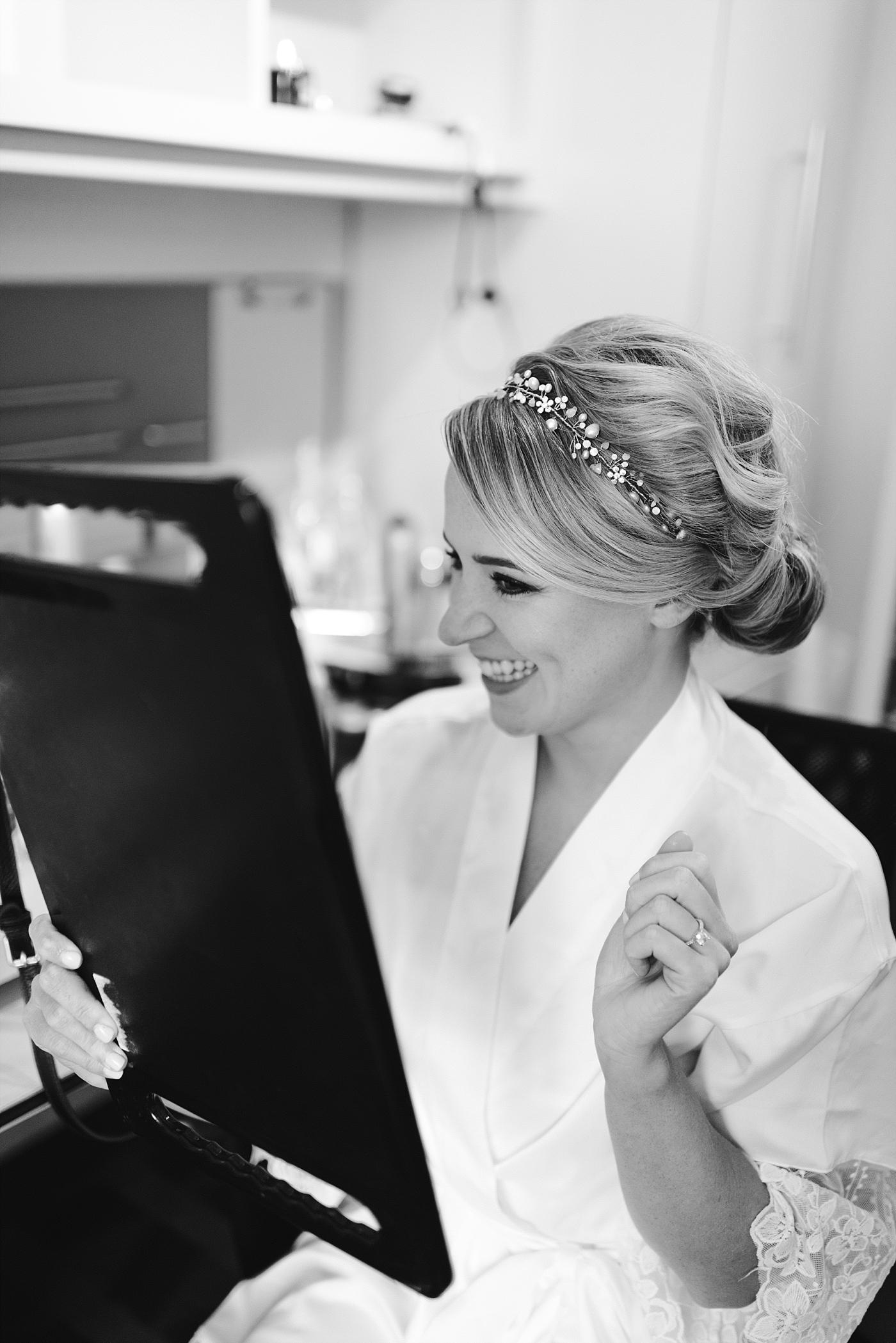 Glam bride updo bridal wedding details