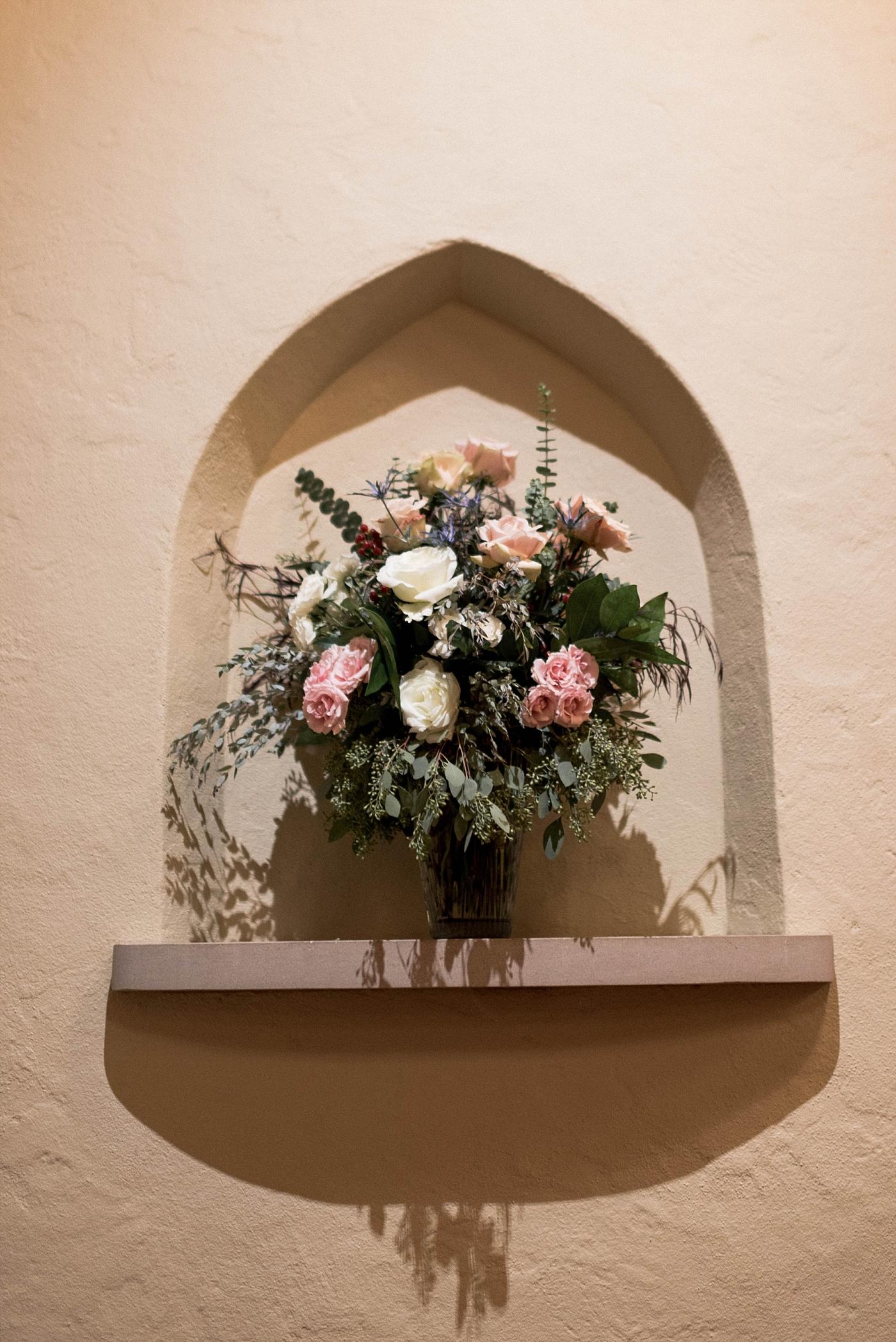 Flowers floral wedding details church chapel bride groom