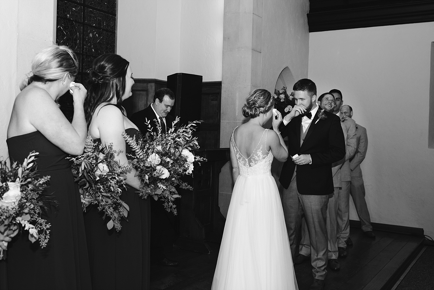 Bride groom bridal party gown vows alter church chapel photography wedding bridal
