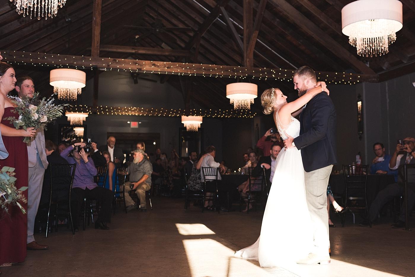 Wedding reception dance photography bride groom