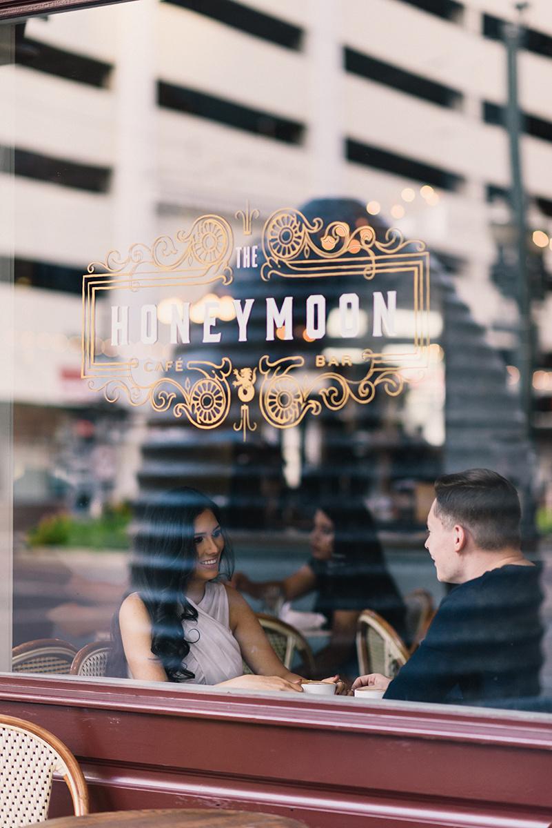 Bennett Brown Photography Houston Texas Engagement Bride Latte Coffee shop Wedding photography
