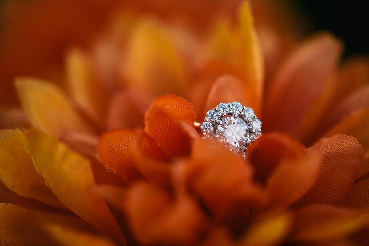 Engagement Ring flower Bennett Brown Photography