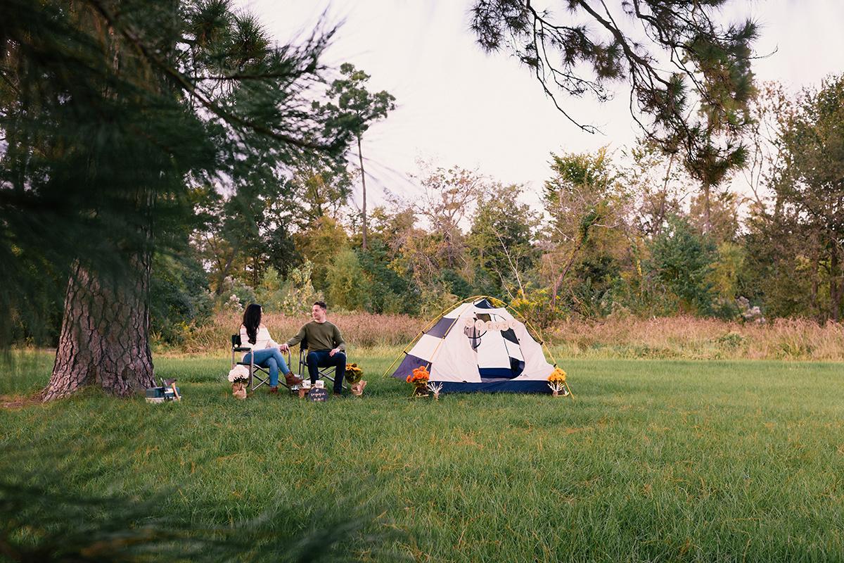 Bennett Brown Photography Houston Texas Engagement shoot Tent