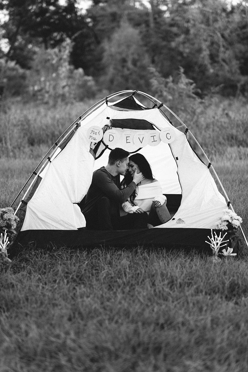 Tent Bennett Brown Photography Houston Texas Engagement shoot