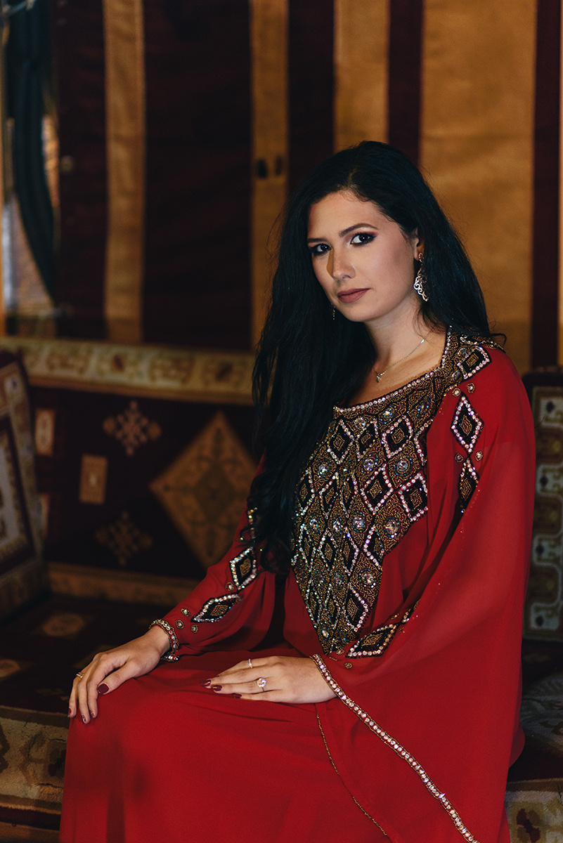 Portrait Photography Traditional beading long hair exotic model Bennett Brown Photography