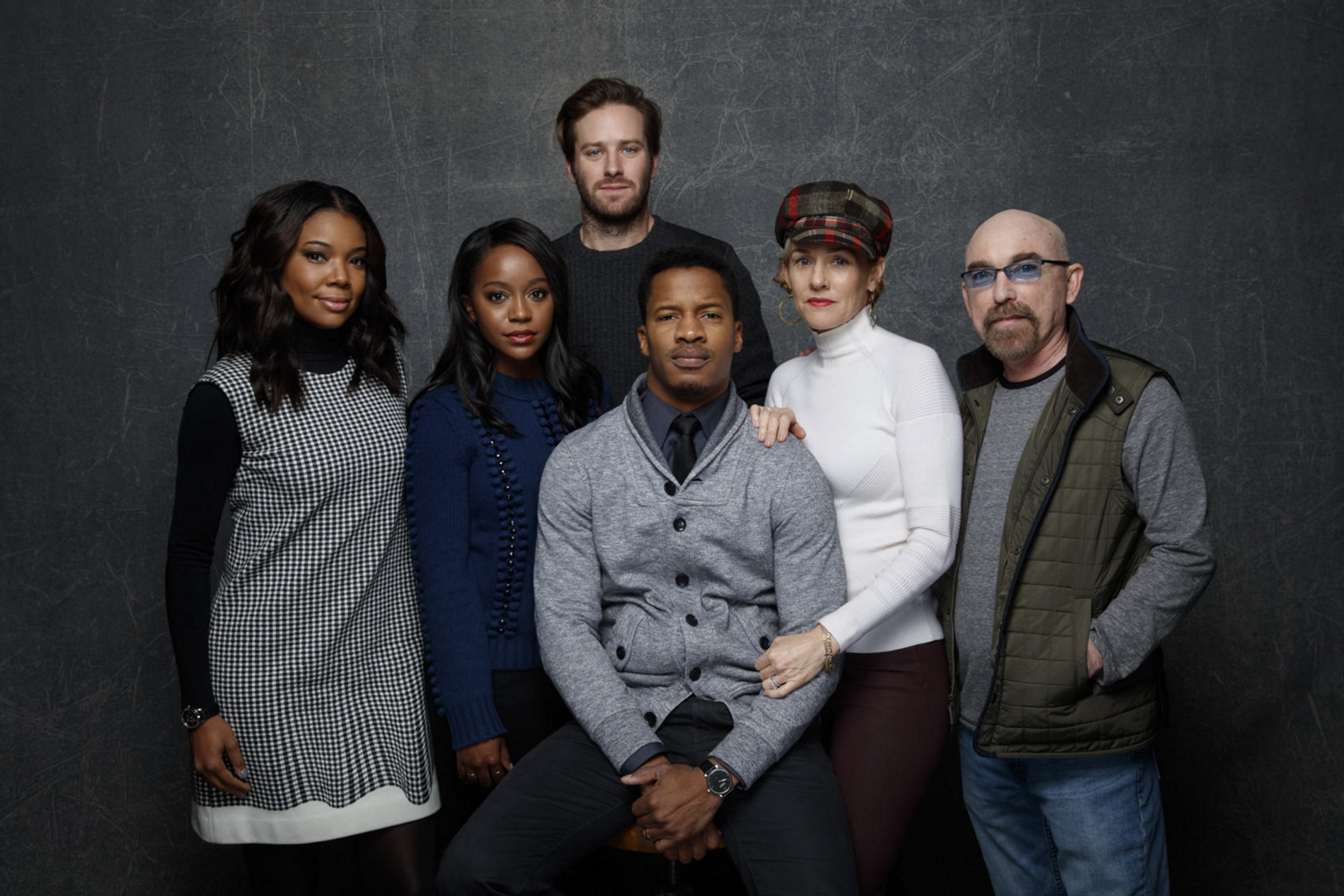 From Left To Right: Gabrielle Union, Aja-Naomi King, Armie Hammer, Nate Parker, Penelope Ann Miller, Jackie Earle Haley