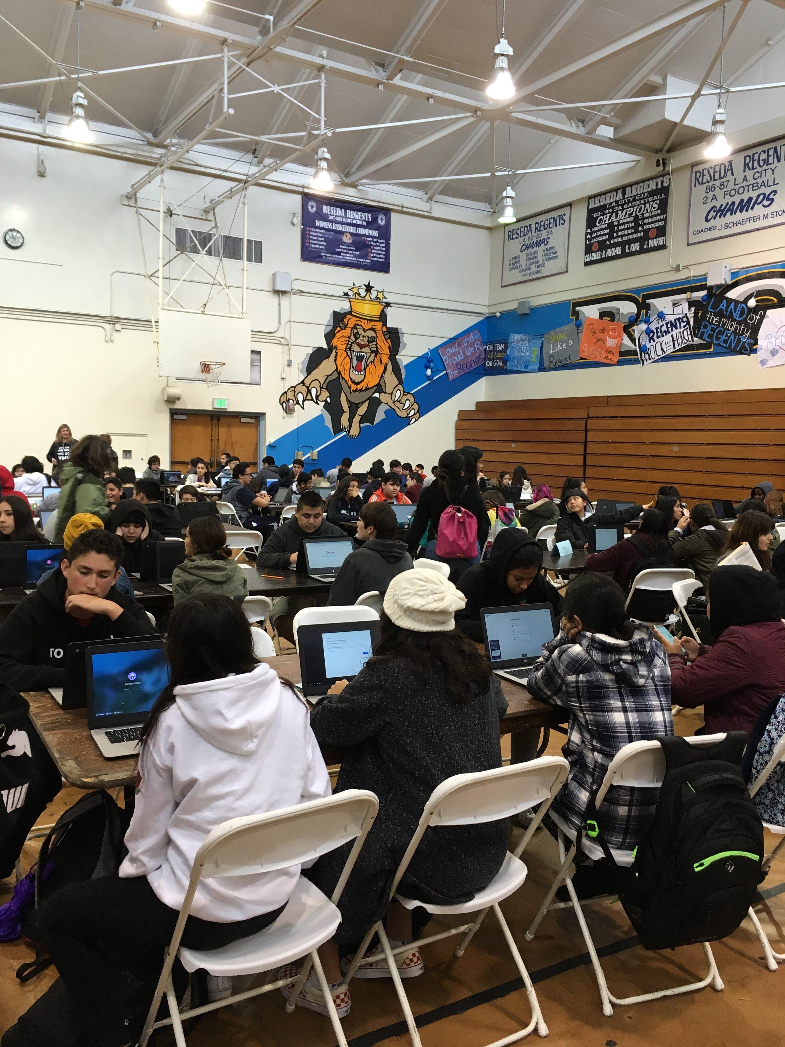 Students at Reseda Charter High