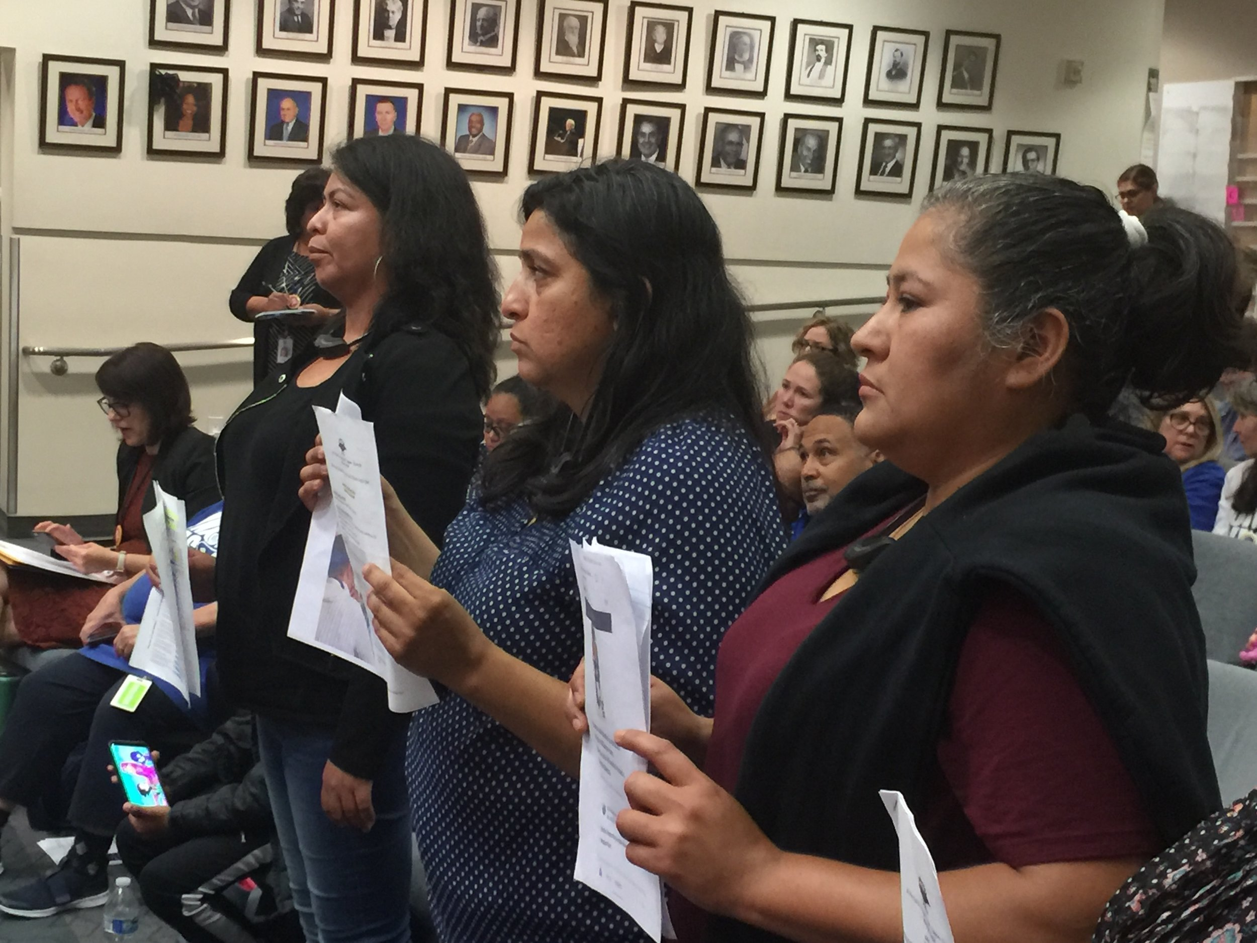 Parents from Angeles Mesa elementary speak up at the LAUSD Board meeting