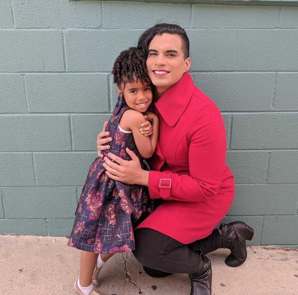 Parent Justine Gonzalez with her daughter