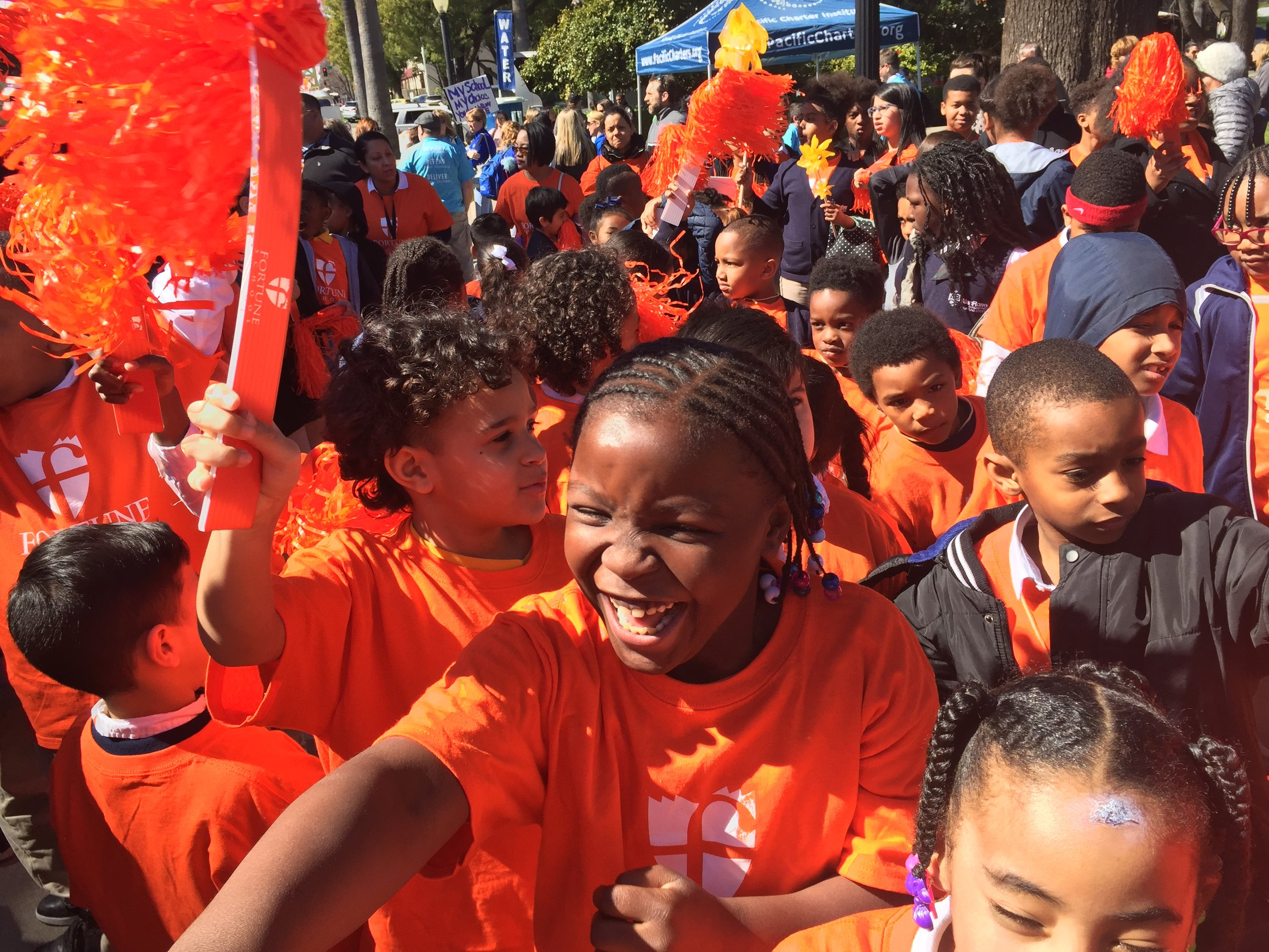 Students from Fortune School rallied in Sacramento to support charter schools in March