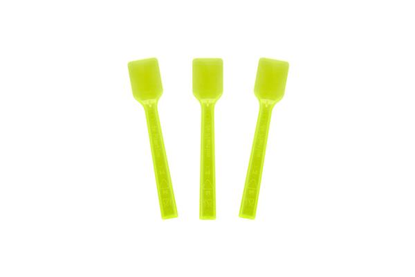 Transparent Neon Yellow Gelato Spoon